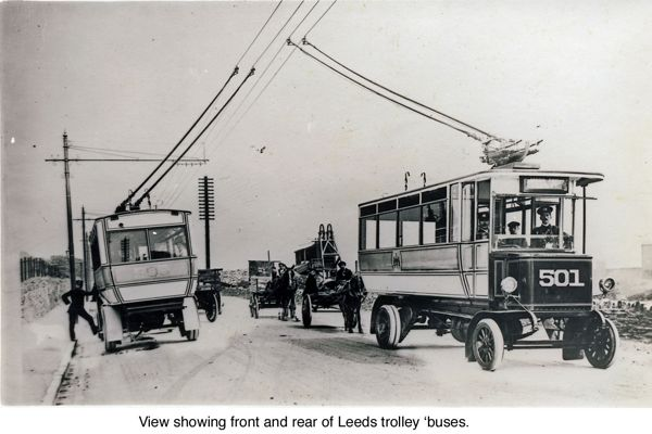 Two trolley buses